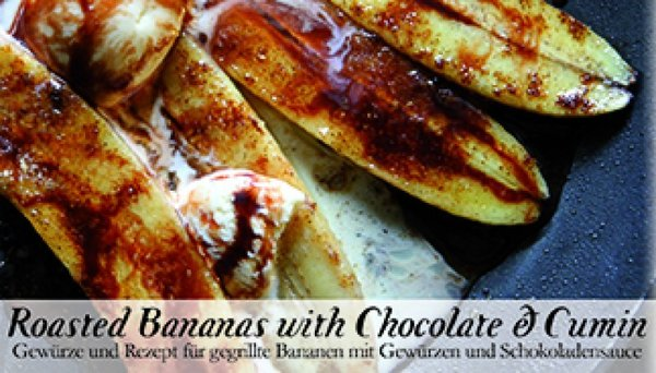 Food Kasten Roasted Bananas with Chocolate and Cumin